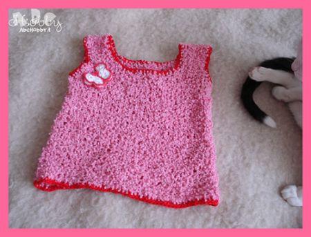 Canotta in cotone per bambini: lo schema maglia