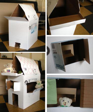 costruisci una casa di cartone con i bambini pourfemme