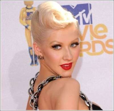Christina Aguilera: make up agli MTV Movie Awards