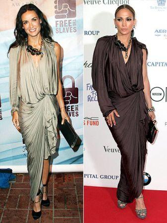 Abito da sera Lanvin: Jennifer Lopez o Demi Moore?
