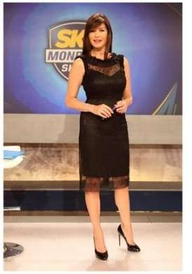 Il look mondiale di Ilaria D'amico in Dolce & Gabbana