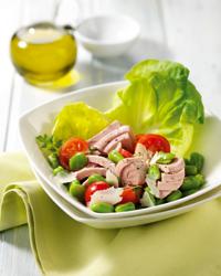 insalata pecorino fave tonno