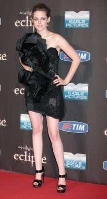 Kristen Stewart in Marchesa alla premiere di Eclipse a Roma