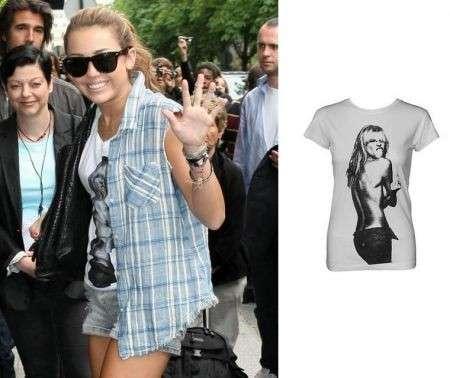 Miley Cyrus: t-shirt con Heidi Klum