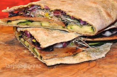 Ricette light: la piadina vegetariana
