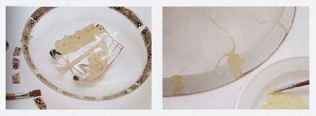 piatto ceramica attica decoupage passaggi