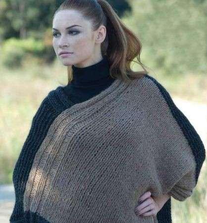 Lavori a maglia: ecco come realizzare un soffice poncho per l'inverno [FOTO]