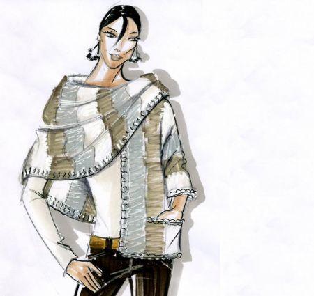 Creare a maglia una fantasiosa sciarpa alla moda