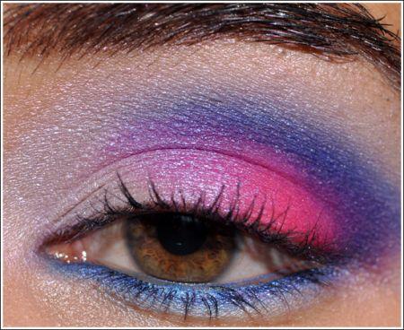 trucco viola e rosa