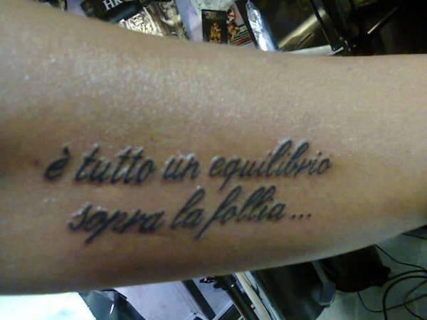 Frase Vasco per tatuaggio tratta da Sally