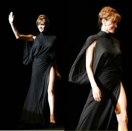 "Angelina Jolie in Versace e Gucci a Tokyo per ""Salt"""