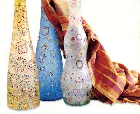 Impreziosisci le tue bottiglie in vetro decorandole a murrina