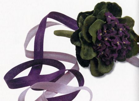 bouquet viole pasta di sale