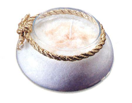 candela con cera a grani