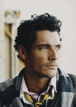 Il modello David Gandy blogger per Vogue UK
