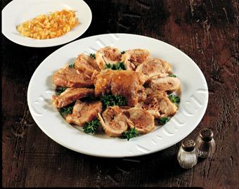 Ricette light: fagottini di pollo e spinaci