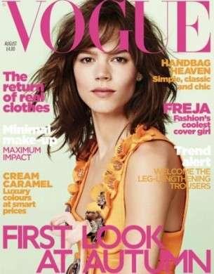 Vogue Uk: è Freja Beha Erichsen la star della copertina di agosto