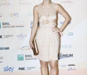 Giorgia Surina, abito Stella McCartney al Rome Fiction Festival