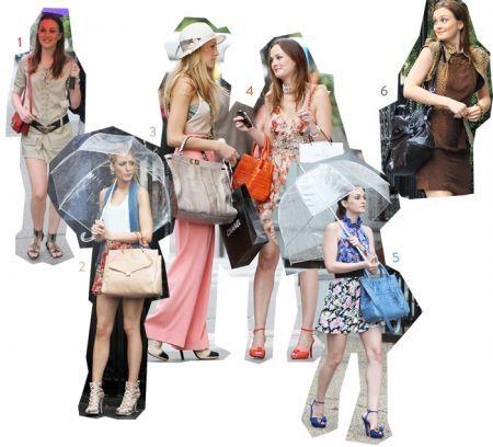 Gossip Girl, le borse di Blair e Serena viste sul set