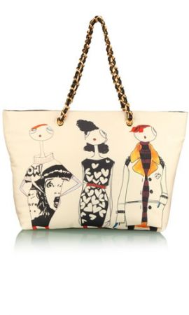Love Moschino, la Girl Illustration Shopper