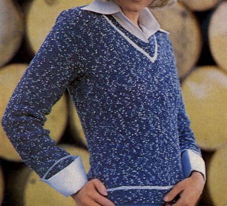 Un maglione blu per tutte le occasioni