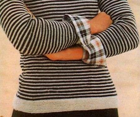 Schemi maglia  girocollo a righe per l autunno  04fc2aaa204f