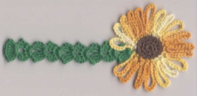 Uncinetto fiori: il segnalibro a girasole