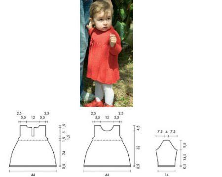 Schemi maglia: realizzare un abito da bambina