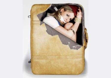 Adesivi per valigie rapimento