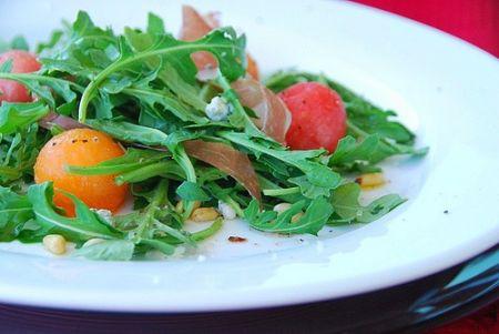 Ricette estive: insalata di rucola e melone