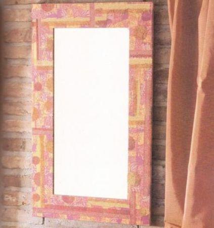 Decoupage: uno specchio decorato in stile anni '60