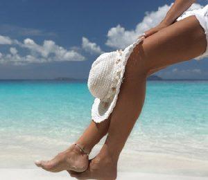 Tonificare le gambe in riva al mare