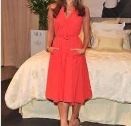 Eva Mendes con abito Ferragamo a Toronto