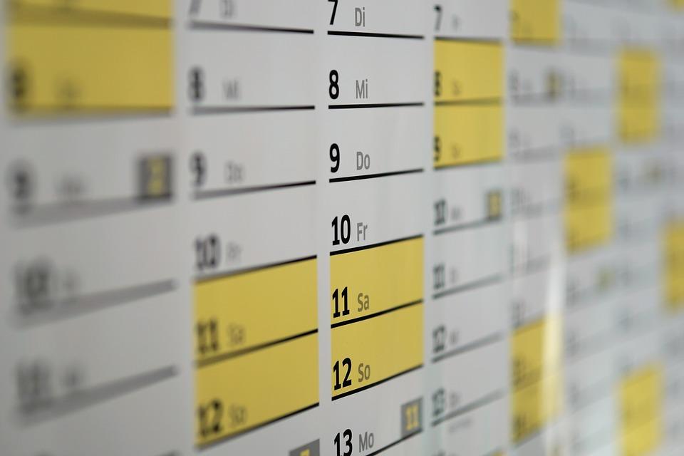 Filastrocca dei mesi, per imparare il numero dei giorni