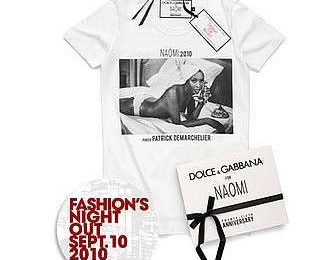 Fashion Night Out: la t-shirt di Dolce & Gabbana con Naomi Campbell