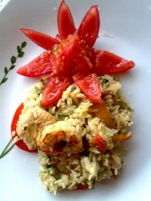 Ricette light: riso basmati con gamberi e peperoni