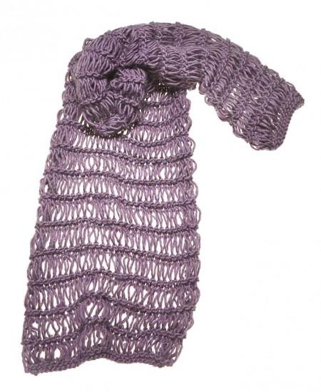 metà fuori 288ff 88724 Lavori maglia: la sciarpa dalle maglie allungate | Pourfemme