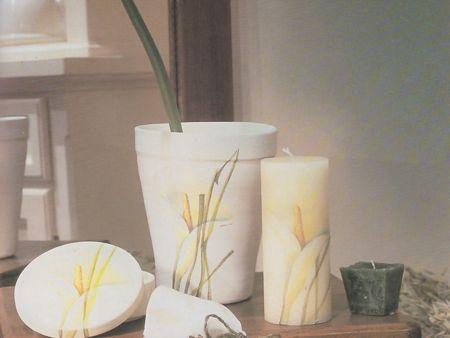 Decoupage: un vaso su misura per la vostra calla