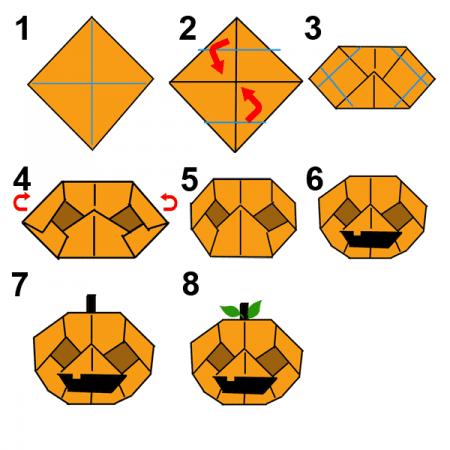 Origami zucca Halloween