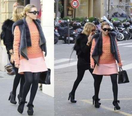 Ashley Olsen con maglione firmato Balenciaga