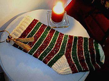 Schemi maglia: la calza della Befana