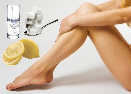 ceretta fai da te limone zucchero acqua
