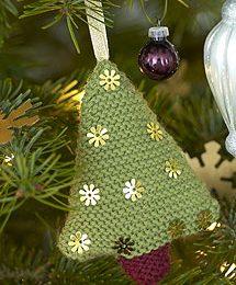 Decorazioni natalizie: albero di Natale in lana
