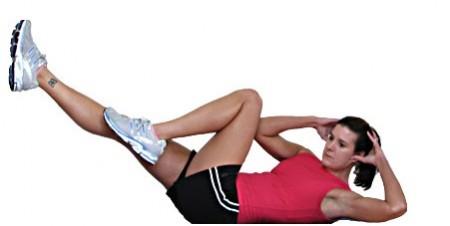 esercizi pilates per gli addominali gambe
