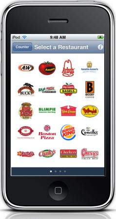 Fast food calorie counter iPhone