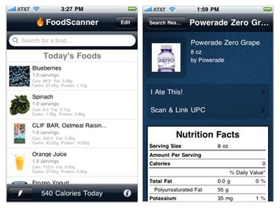 Foods scanner iphone