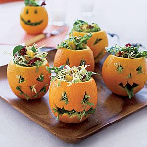 insalatina arancia halloween