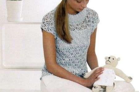 Schemi uncinetto: una maglietta di pizzo sulla pelle