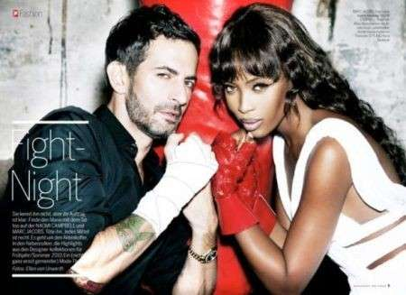 Marc Jacobs e Naomi Campbell su Stern magazine