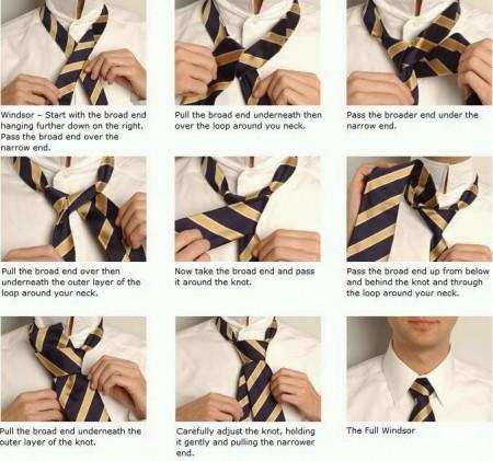 Nodo alla cravatta in 10 secondi, le istruzioni